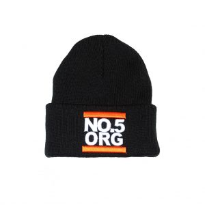 No5 Orange 1003 Black Beanie UNDMC