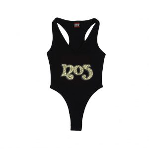 No5 Orange 3006 Black Bodysuit Cash
