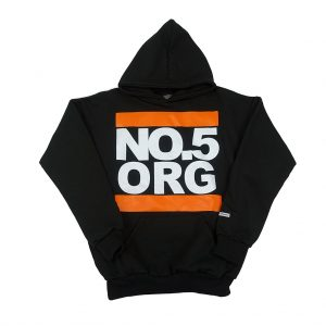 No5 Orange 8002 Black Hoodie UNDMC