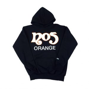 No5 Orange 8004 Black Hoodie Classic